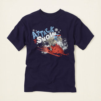 Children's Place Attack snow graphic tee