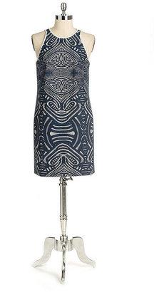 Nicole Miller Sleeveless Bonded Lace Dress