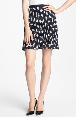 Nordstrom Miss Wu 'Delicate Leaf' Print Chiffon Skirt Exclusive)