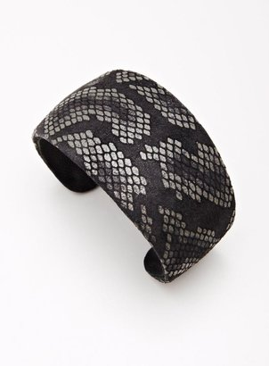 Ted Rossi Leather Boa Cuff Bracelet