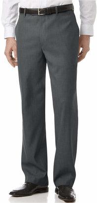 Perry Ellis Portfolio Classic Fit Flat Front Sharkskin Men Dress Pants