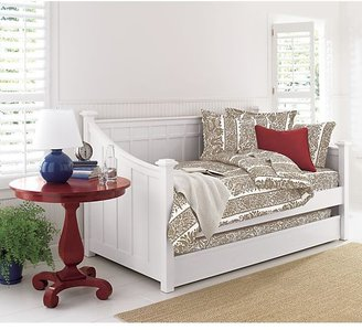 Crate & Barrel Brighton White Daybed with Trundle (mattresses sold separately).