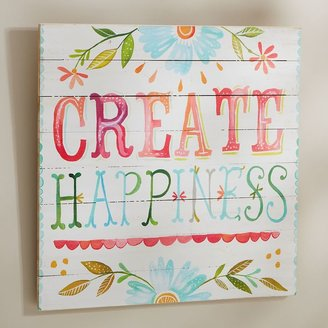 PBteen Create Happiness Watercolor Art