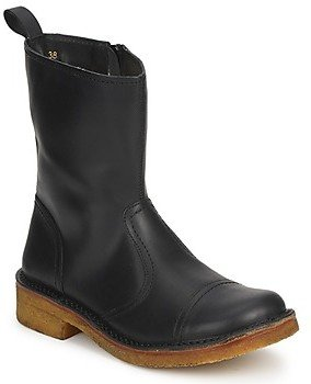 Swedish Hasbeens DANISH BOOT women's Low Ankle Boots in Black