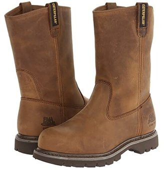 Caterpillar Revolver Steel Toe (Dark Beige Lite Horn) Women's Work Pull-on Boots