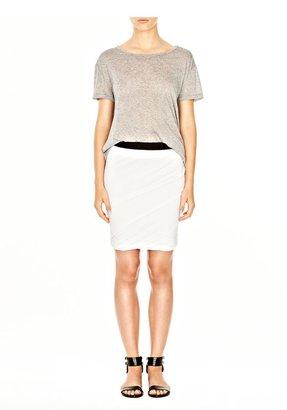 Alexander Wang Pique Shiny Double Knit Skirt