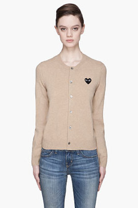 Comme des Garcons Light camel Wool Patch Cardigan