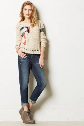 J Brand Mid-Rise Skinny Slouch Jeans