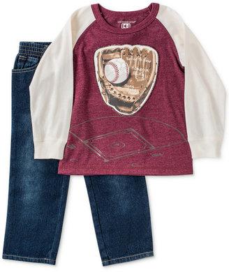 Kids Headquarters Little Boys' 2-Piece Raglan Tee & Jeans Web ID: 1655680