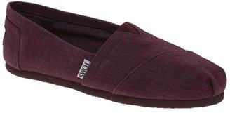 Toms Vegan Burgundy Flat Shoes