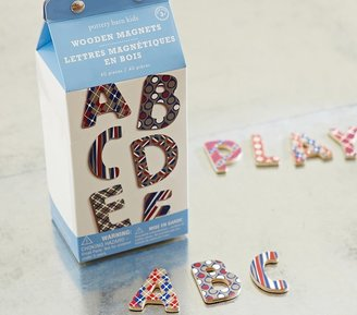"Pottery Barn Kids Wooden Magnet Letters ""Playful Patterns"""