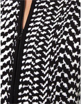 Narciso Rodriguez Black Wool Zip Cardigan