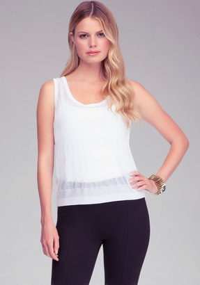 Bebe Woven Back High Low Top