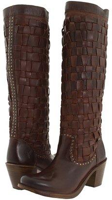 Frye Carmen Woven (Dark Brown) - Footwear