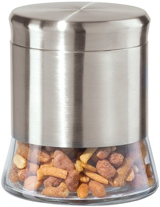 """Oggi 5"""" Stainless Steel and Glass Canister"""