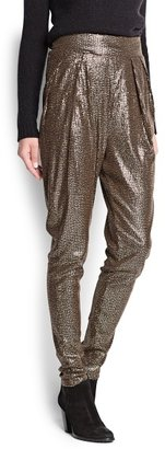 MANGO Outlet Sequin Baggy Trousers
