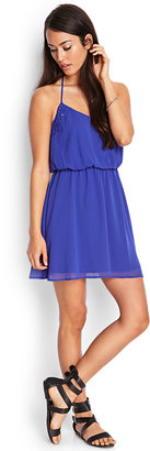 LOVE21 LOVE 21 Ribbon Applique Halter Dress