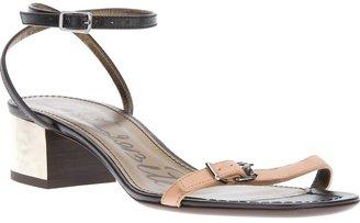Lanvin metallic heel sandal