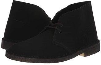 Clarks Desert Boot (Black Suede 2) Men's Lace-up Boots