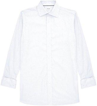 DUCHAMP LONDON Hand Drawn Paisley Shirt White