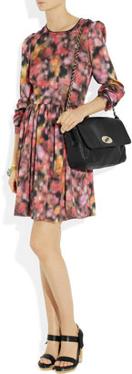 Mulberry Printed washed-satin dress