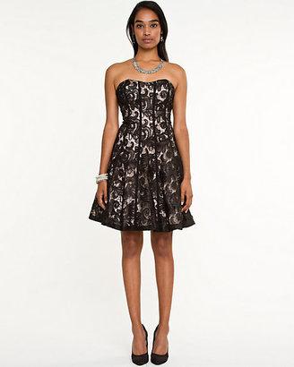 Le Château Lace Sweetheart Dress