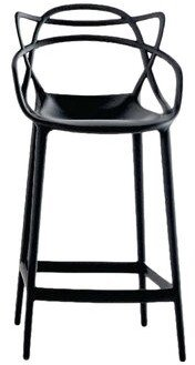 "Kartell Masters Bar & Counter Stool Seat Height: Counter Stool (25.62"" Seat Height), Color: Black"