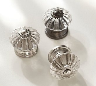 Pottery Barn Vintage Glass Round Knob