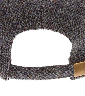 Asos 5 Panel Cap in Harris Tweed with Suede Peak