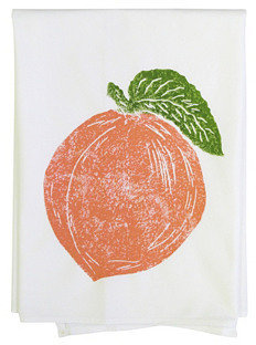 S/2 Peach Tea Towels, Peach