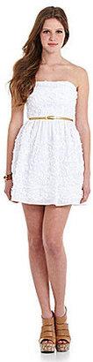 B. Darlin Strapless Embroidered Dress