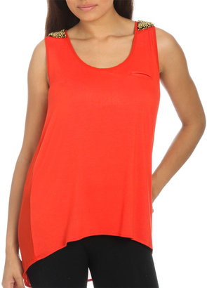 Arden B Embellished High-Low Tank