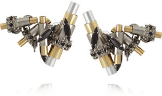 Swarovski VICKISARGE Jazz silver-plated, gold-plated and crystal clip earrings