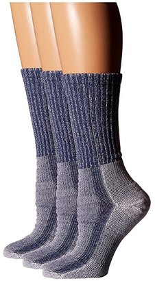 Thorlos Light Hiker Crew 3-Pair Pack (Slate Blue) Women's Crew Cut Socks Shoes