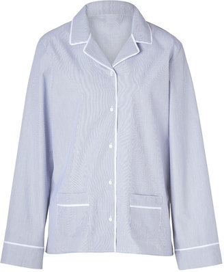 Princesse Tam-Tam Dark Blue/White Striped Cotton Pajama Top