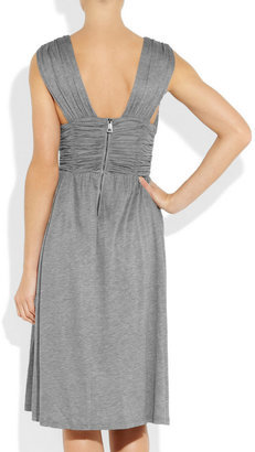 Burberry Ruched jersey dress