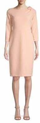 Calvin Klein Three-Quarter-Sleeve Sheath Dress