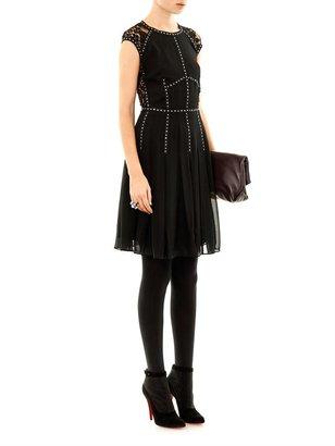 Rebecca Taylor Lace back embellished dress