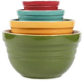 Bed Bath & Beyond Tabletops Gallery Retro Assorted 4-Piece Mixing Bowl Set