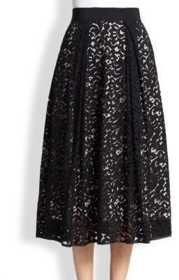 Milly Lace Midi Skirt
