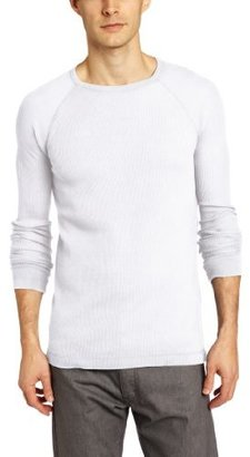 Calvin Klein Jeans Men's Triblend Waffle Long Sleeve Crew Neck Tee