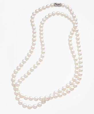 10mm Glass Pearl Necklace with Deco Clasp $398 thestylecure.com