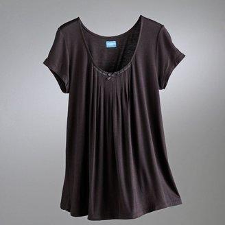 Vera Wang Simply vera basic luxury pleated pajama top
