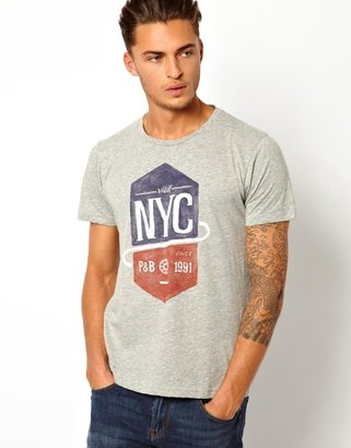 Pull&Bear T-Shirt with NYC Print