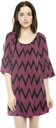 Glam Zig Zag Split-Sleeve Dress