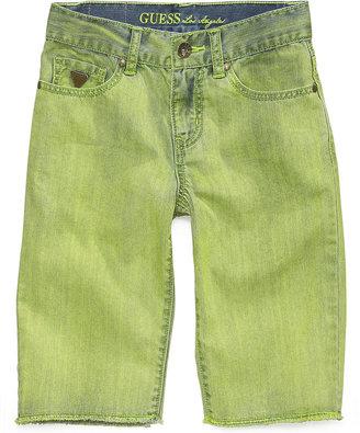 GUESS Boys' Slim-Fit Frayed Denim Shorts