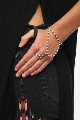 Urban Outfitters Rosary Ring-To-Wrist Bracelet