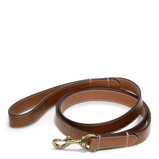 Coach Bleecker Leather Story Patch Dog Leash