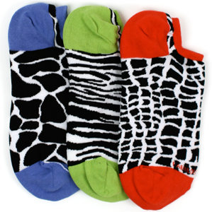 LittleMissMatched Reversible Animal Liner Socks