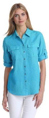 Chaus Women's Utility Roll Tab Shirt